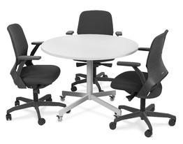 Mesa de Reunião Redonda com Rodinha