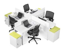Mesa Individual com Eletrocalha