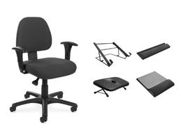 Kit Ergonomia com Cadeira Plus