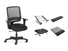 Kit Ergonomia com Cadeira Uni